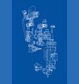 sketch industrial equipment vector image