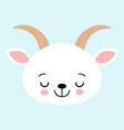 sleeping goat cute in childish flat vector image vector image