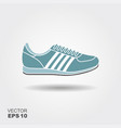 sport shoes sneakers flat icon with vector image