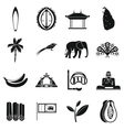 Sri Lanka travel icons set simple style vector image vector image