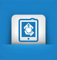 tablet store icon vector image vector image