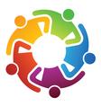 Teamwork share logo vector image