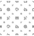 television icons pattern seamless white background vector image vector image