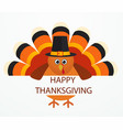 thanksgiving day colorful cartoon turkey bird