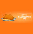 thanksgiving day concept banner cartoon style vector image vector image