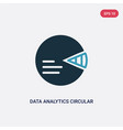 two color data analytics circular icon from user vector image vector image