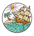 views sailing ships vector image