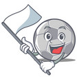 with flag football character cartoon style vector image