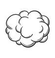 hand drawn fog smoke cloud isolated comic vector image