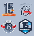 15 Years Anniversary Logo vector image vector image