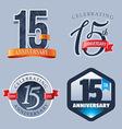 15 Years Anniversary Logo vector image