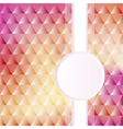 a pink background with triangles vector image vector image