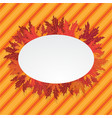 autumn leafs oval lable vector image vector image