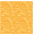 baked goods seamless pattern - bread buns and vector image vector image
