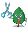 barber mint leaves character cartoon vector image vector image