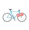 bike rental business vector image vector image