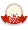 Border design with classic ride vector image
