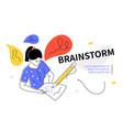 brainstorm - modern colorful flat design style web vector image vector image