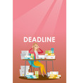 businessman has a problem with a deadline vector image vector image