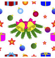 christmas and new year holiday theme vector image vector image