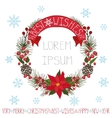ChristmasNew year greeting cardBest wishes vector image