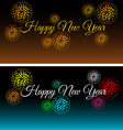 City at night with fireworks set vector image vector image