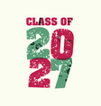 class of 2027 concept stamped word art vector image vector image