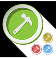 color icons with claw hammer vector image vector image