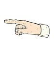 Comic cartoon pointing hand
