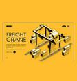 commercial cargo shipment company website vector image vector image