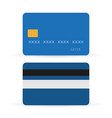 credit card front and back with shadows vector image