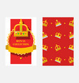crowns set banners posters vector image