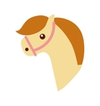 cute horse toy icon vector image vector image