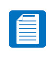 document icon of symbol blue icon on a white vector image