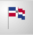 dominican republic waving flag creative background vector image vector image