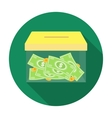 Donation moneybox icon in flat style isolated on vector image vector image