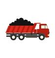 Dump truck flat icon vector image vector image
