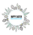 easter background floral decoration vector image vector image