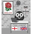 England Tourist Information vector image vector image