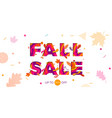 fall autumn sale maple leaf promo discount shop vector image vector image