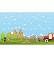 Fire fighting department banner vector image