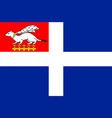 flag of saint-malo in ille-et-vilaine of brittany vector image vector image
