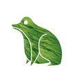 frog cartoon graphic vector image