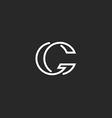 G letter logo monogram mockup elegant black and vector image vector image