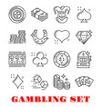 gambling sport icon of casino and card game design vector image vector image