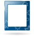 Glassy frame with snowflakes isolated on white vector image vector image