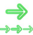 Green line arrow logo design set vector image vector image