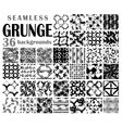 Grunge seamless backgrounds vector image vector image