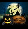 halloween spooky background vector image vector image