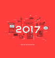 hot trends and predictions in global communication vector image vector image